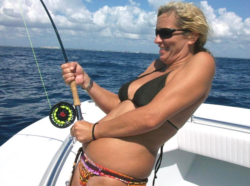 Lady Hooked Up on Fly